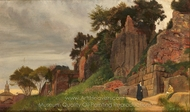 A View on the Palatine Hill painting reproduction, Roma Quadrata