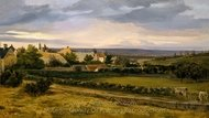A Village in a Valley painting reproduction, Theodore Rousseau
