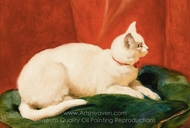 A White Cat painting reproduction, John Frederick Herring Sr.
