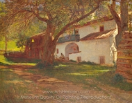 A White House among Trees painting reproduction, Dutch Painter