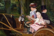 A Woman and a Girl Driving painting reproduction, Mary Cassatt