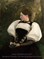 A Woman from Bern, Switzerland painting reproduction, Pascal Dagnan-Bouveret