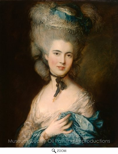 Thomas Gainsborough, A Woman in Blue oil painting reproduction