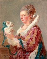 A Woman with a Dog painting reproduction, Jean-Honore Fragonard