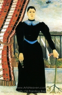 A Womans Portrait painting reproduction, Henri Rousseau