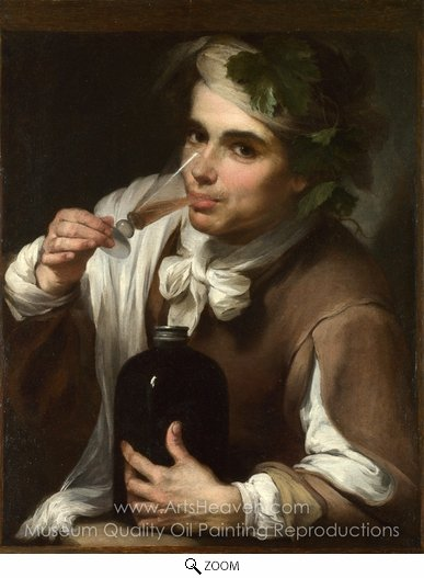 Bartolome Esteban Murillo, A Young Man Drinking oil painting reproduction