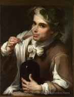 A Young Man Drinking painting reproduction, Bartolome Esteban Murillo