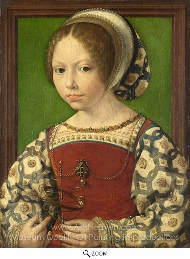 Jan Gossaert, A Young Princess (Dorothea of Denmark) oil painting reproduction