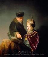 A Young Scholar and His Tutor painting reproduction, Rembrandt Van Rijn
