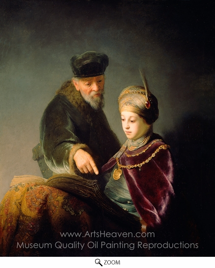Rembrandt Van Rijn, A Young Scholar and His Tutor oil painting reproduction