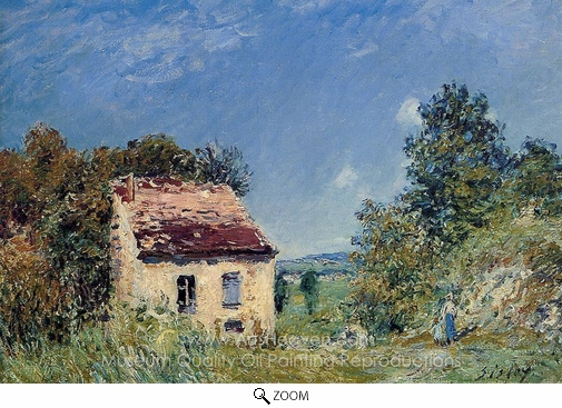 Alfred Sisley, Abandoned House oil painting reproduction