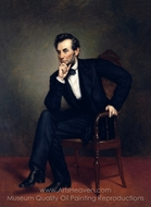 Abraham Lincoln painting reproduction, George P. A. Healy