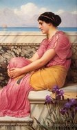 Absence Makes the Heart Grow Fonder painting reproduction, John William Godward