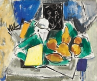 Abstract Still Life painting reproduction, Alfred Henry Maurer
