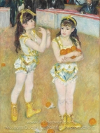 Acrobats at the Cirque Fernando painting reproduction, Pierre-Auguste Renoir