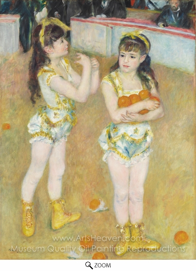 Pierre-Auguste Renoir, Acrobats at the Cirque Fernando oil painting reproduction