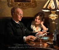 Actor Emil Poulsen and His Wife Anna painting reproduction, Peder Severin Kroyer