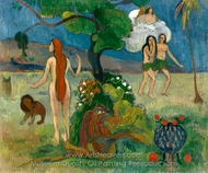 Adam and Eve (Paradise Lost) painting reproduction, Paul Gauguin