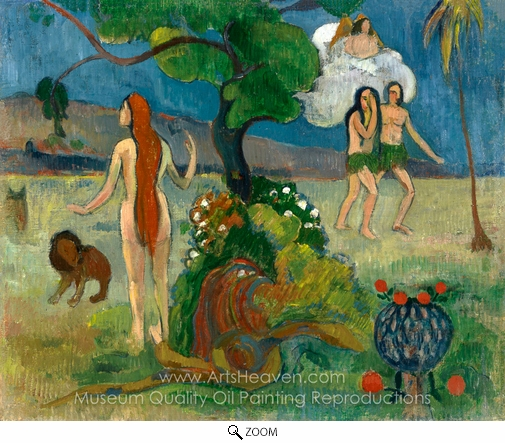 Paul Gauguin, Adam and Eve (Paradise Lost) oil painting reproduction