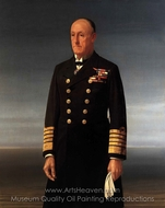 Admiral of the Fleet, John Jellicoe, 1st Earl Jellicoe painting reproduction, Sir Walter Thomas Monnington