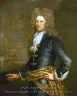 Admiral Sir John Balchen painting reproduction, Jonathan Richardson