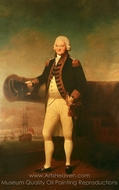 Admiral Sir Peter Parker painting reproduction, Lemuel Francis Abbott