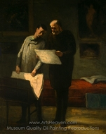 Advice to a Young Artist painting reproduction, Honore Daumier
