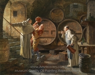 After a Heavy Session painting reproduction, Eduard Von Grutzner