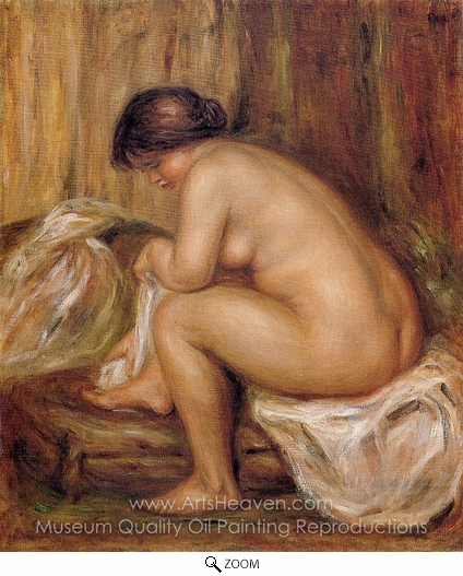 Pierre-Auguste Renoir, After Bathing oil painting reproduction