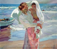 After Bathing painting reproduction, Joaquin Sorolla