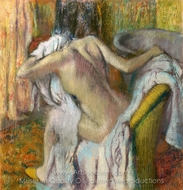 After the Bath Woman Drying Herself painting reproduction, Edgar Degas