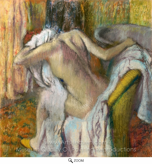 Edgar Degas, After the Bath Woman Drying Herself oil painting reproduction