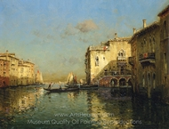 Afternoon in Venice painting reproduction, Antoine Bouvard