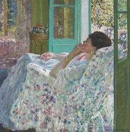 Afternoon Yellow Room painting reproduction, Frederick Carl Frieseke