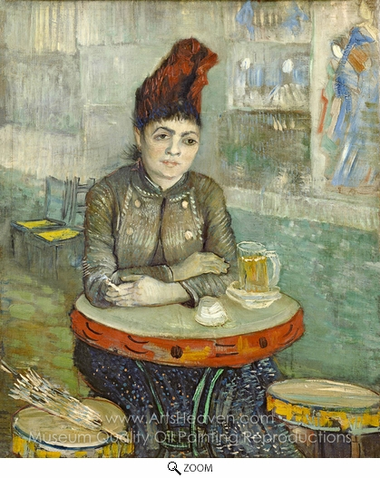 Vincent Van Gogh, Agostina Sagatori Sitting in the Cafe du Tamborin oil painting reproduction