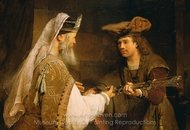 Ahimelech Giving the Sword of Goliath to David painting reproduction, Aert De Gelder