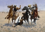Aiding a Comrade painting reproduction, Frederic Remington