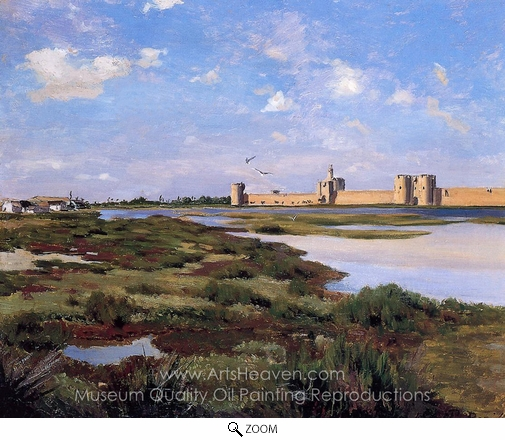 Jean Frederic Bazille, Aigues Mortes oil painting reproduction
