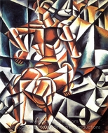 Air Man Space painting reproduction, Liubov Popova