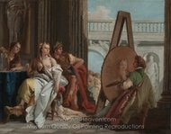 Alexander the Great and Campaspe in the Studio of Apelles painting reproduction, Giovanni Battista Tiepolo