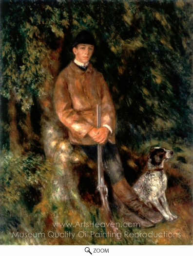 Pierre-Auguste Renoir, Alfred Berard and His Dog oil painting reproduction