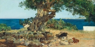 Algarrobo (The Carob Tree) painting reproduction, Joaquin Sorolla