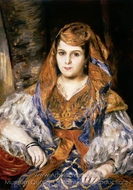 Algerian Woman (Madame Clementine Stora in Algerian Dress) painting reproduction, Pierre-Auguste Renoir