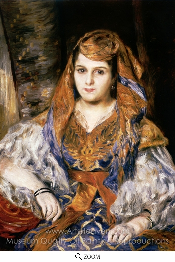 Pierre-Auguste Renoir, Algerian Woman (Madame Clementine Stora in Algerian Dress) oil painting reproduction