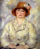 Aline Charigot (Madame Renoir) painting reproduction, Pierre-Auguste Renoir
