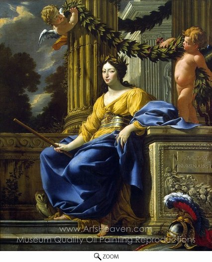 Simon Vouet, Allegorical Portrait of Anna of Austria as Minerva oil painting reproduction