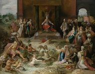 Allegory on the Abdication of Emperor Charles V in Brussels painting reproduction, Frans Francken