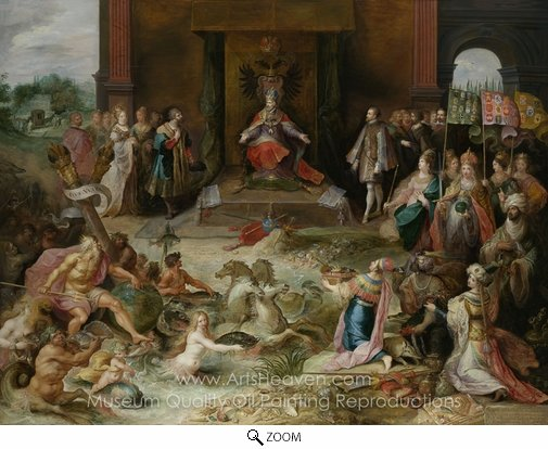Frans Francken, Allegory on the Abdication of Emperor Charles V in Brussels oil painting reproduction