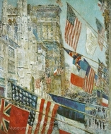 Allies Day, May 1917 painting reproduction, Childe Hassam