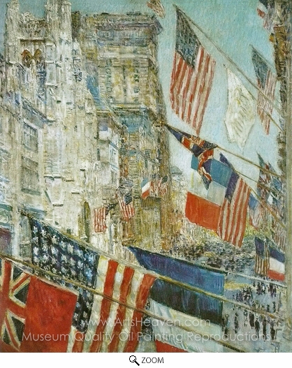 Childe Hassam, Allies Day, May 1917 oil painting reproduction